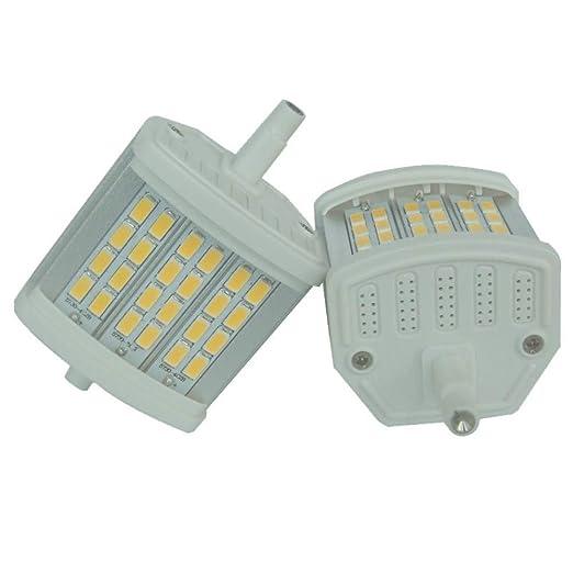 LED R7S 78MM, 8W, luz natural (4000K), 5630SMD luz de maíz R7S ...