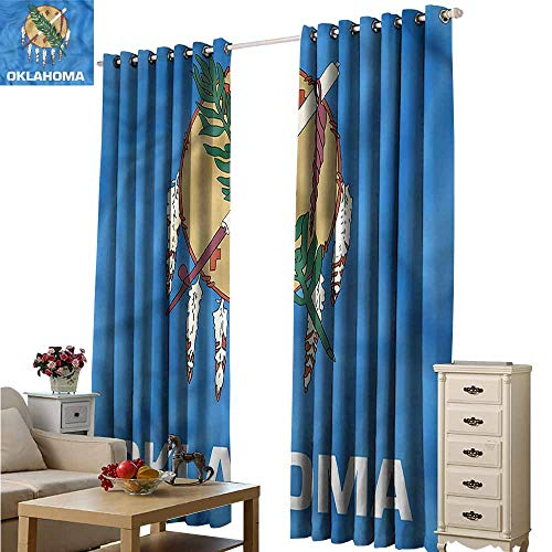 - Fakgod Blackout Curtains American Native Americans Oklahoma Darkening Thermal Insulated Blackout W120x72L
