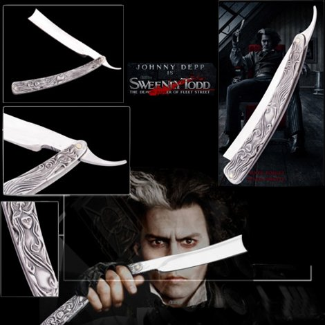 Armory Replicas Evil Barber Todd Movie Demon Blade Razor