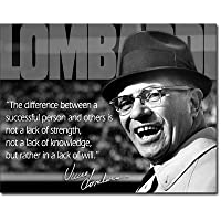 Vince Lombardi Successful Person Quote Sports Retro Vintage Tin Sign Tin Sign  16x13