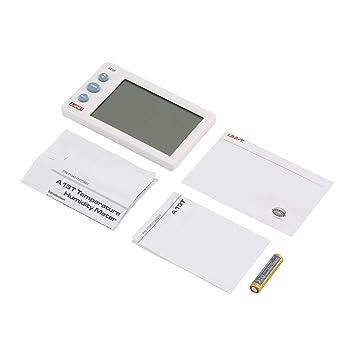 Delicacydex Uni-T A13T Medidor de Temperatura de Humedad LCD Termómetro Digital higrómetro Detector Termómetro