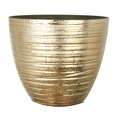 FANTASTIC :) 14-INCH Shinny Finish Decorative Plastic Planters Flower Pot (1-Pack, Wrinkle - Plastic Decorative Planters