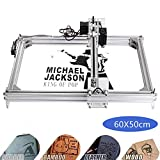 Kelife DIY CNC Laser Engraver Kits, 60x50cm 1000mW Wood Carving Engraving Cutting Machine Desktop Printer Logo Picture Marking, 2 Axis