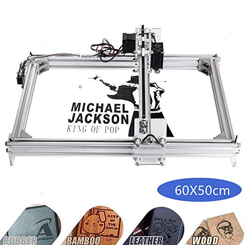 Kelife DIY CNC Laser Engraver Kits, 60x50cm 1000mW Wood Carving Engraving Cutting Machine Desktop Printer Logo Picture Marking, 2 Axis (Best Cnc Laser Cutting Machine)