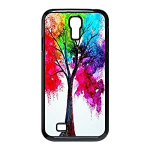 Diy Colourful Tree Shell Case Cover, DIY Unique Back Case Cover for SamSung Galaxy S4 I9500 Colourful Tree