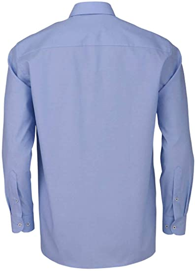 Marvelis Comfort Fit Camicia a Maniche Lunghe New Kent Colletto Modello Blu