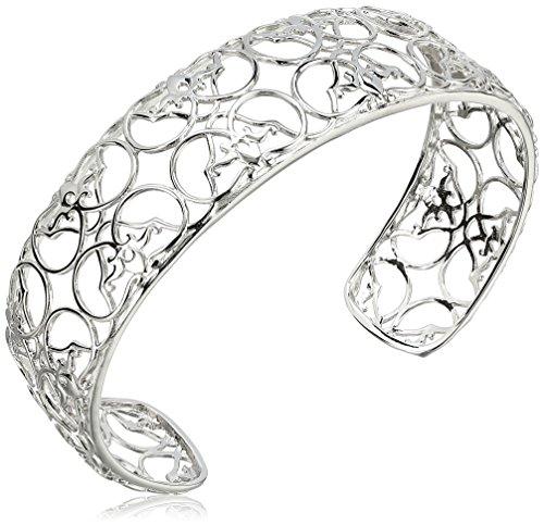Filigree Cuff - Sterling Silver Filigree Cuff Bracelet, 7.25