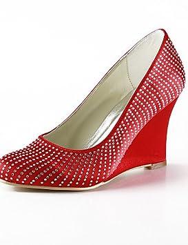 ZQ Zapatos de boda-Tacones-Tacones / Punta Redonda-Boda / Vestido /