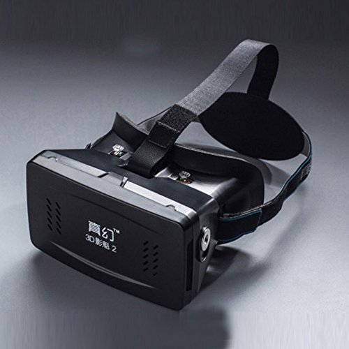 RITECH II Head Mount Plastic Version 3D VR Virtual Reality Glasses Lens Google Cardboard Movies Games Helmet Headset For 3.5 to 6 inch Mobile Phone Smartphone
