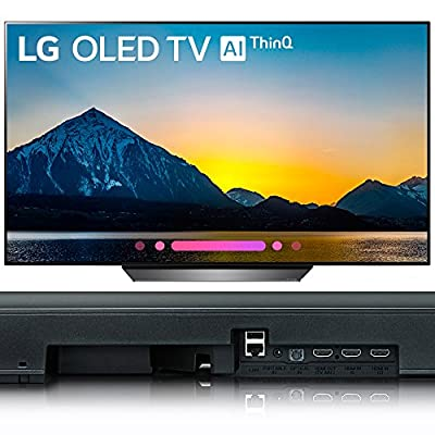 "LG 65"" Class B8 OLED 4K HDR AI Smart TV 2018 Model (OLED65B8PUA) with LG 5.1.2-Channel Hi-Res Audio Soundbar with Dolby Atmos"