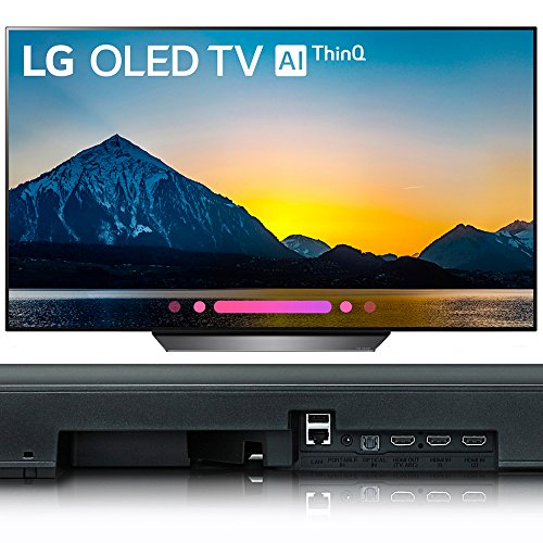 LG 55″ Class B8 OLED 4K HDR AI Smart TV 2018 Model (OLED55B8PUA) 5.1.2-Channel Hi-Res Audio Soundbar with Dolby Atmos