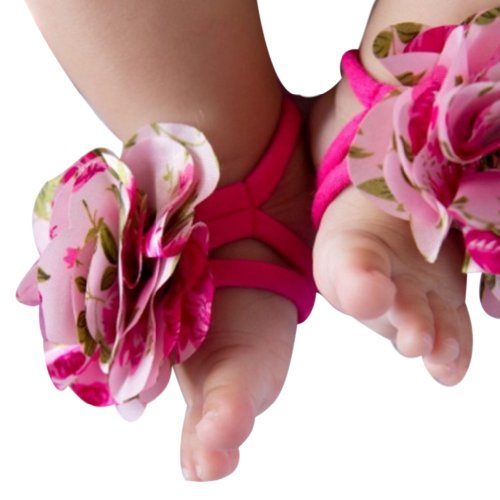 Hee Grand Baby Infants Barefoot Flower Socks Sandals Shoes