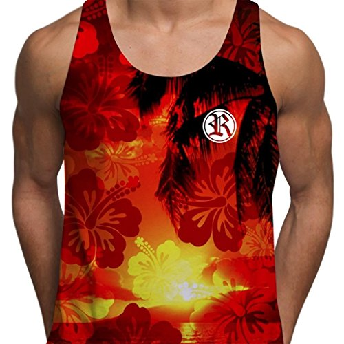 Rich In Paradise Hawaiian Palm Tree Hawaii Ibiza Miami Sunny Beach Mens Gym - Palm Mall Beach Florida