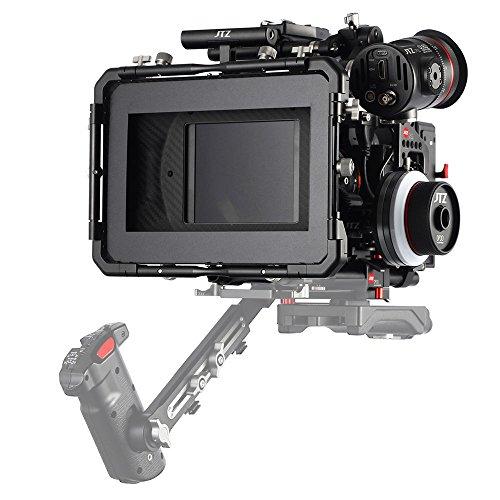 JTZ DP30 Camera Cage Baseplate DSLR Rig & Top Handle+Matte box+Follow Focus+Power Supply for Panasonic Lumix GH3 GH4 GH5 by JTZ