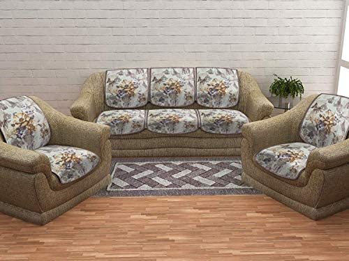 Magnificent Cloth Fusion Sinopec 10 Pcs Sofa Covers Set Of 5 Seater Sofa Brown Pabps2019 Chair Design Images Pabps2019Com
