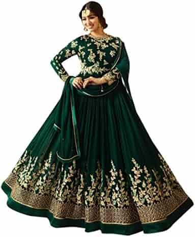 2bea50cb94 Ready Made Bollywood Embroidered Muslim Eid Long Bridal Anarkali Designer Salwar  Kameez 2511