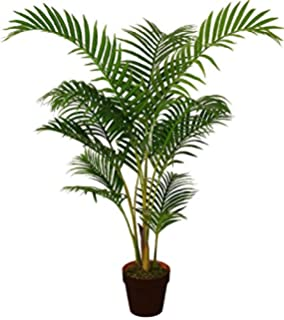 Best Artificial 120cm 4ft Areca Palm Tree Tropical Office Conservatory  Indoor Outdoor Garden Plant (1