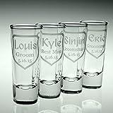 Personalized Engraved Groomsmen Shot Glasses