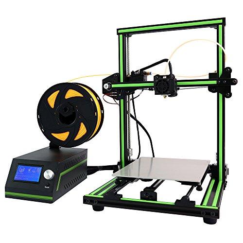 DIY Anet E10 3D Printer Kit Prusa I3 Dual Z Axis Rods Aluminum Large Print Size 220x270x300mm Black Green,1.75MM Filament Sample