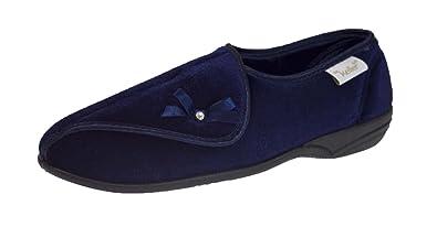 6a29598ae355 Dr Keller Womens Diabetic Orthopaedic Wide Fit Adjustable Comfort Slippers