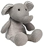 """WILD BABY Heatable Plush Pal Knitted Elephant - 12"""" Cute Cozy Hot/Cold Therapy Stuffed Animal with Light Lavender Scent"""