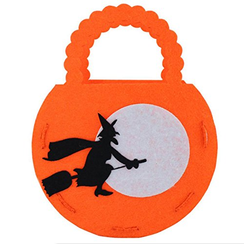 (Hosaire Happy Halloween Hand Pumpkin Bag Child Trick Or Treat Storage Candy Carrying Bag 1PCS)