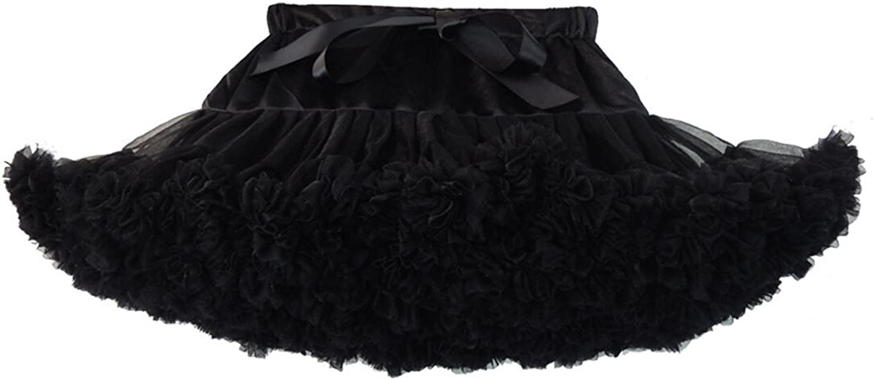 Soudoog Baby Girls Dance Tutu Discoball Pettiskirt Laye Ruffle Chiffon Dress Ballet Dance Skirt