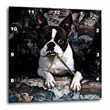 Cheap 3dRose LLC Boston Terrier Philippe Wall Clock, 10 by 10-Inch
