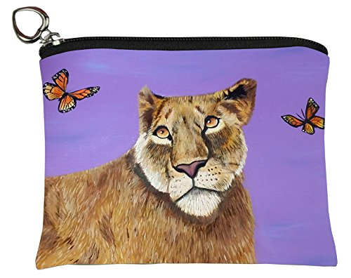 Lioness Change Purse, Coin Purse - From My Original Painting, Curiosity]()