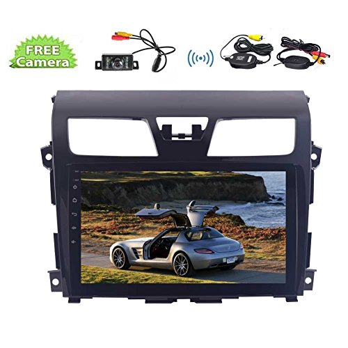 10.1 inch Android 7.1 Quad Core Car Stereo - 2 Din In Dash Bluetooth Special for Nissan Altima(2014-2016) with GPS Navigation 1GB RAM 16GB ROM- Support 32GB USB, 3/4G,WIFI, AM FM RDS Radio,Backup Cam (Nissan Altima Back Up Camera)