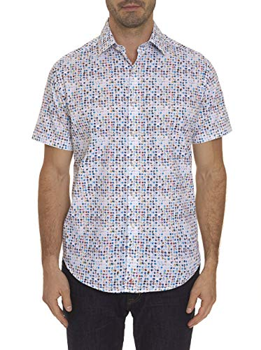 Full Circle Pattern (Robert Graham Full Circle Printed Short Sleeve Sport Shirt Classic Fit Multicolor XLarge)