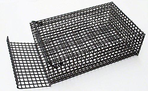 Lee Fisher CHUM BOX Black Vinyl Coated Wire Chum Box 13''x8''x4-1/4''
