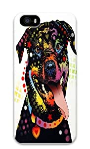 happy rottweiler PC Case Cover for iPhone 5 and iPhone 5s 3D