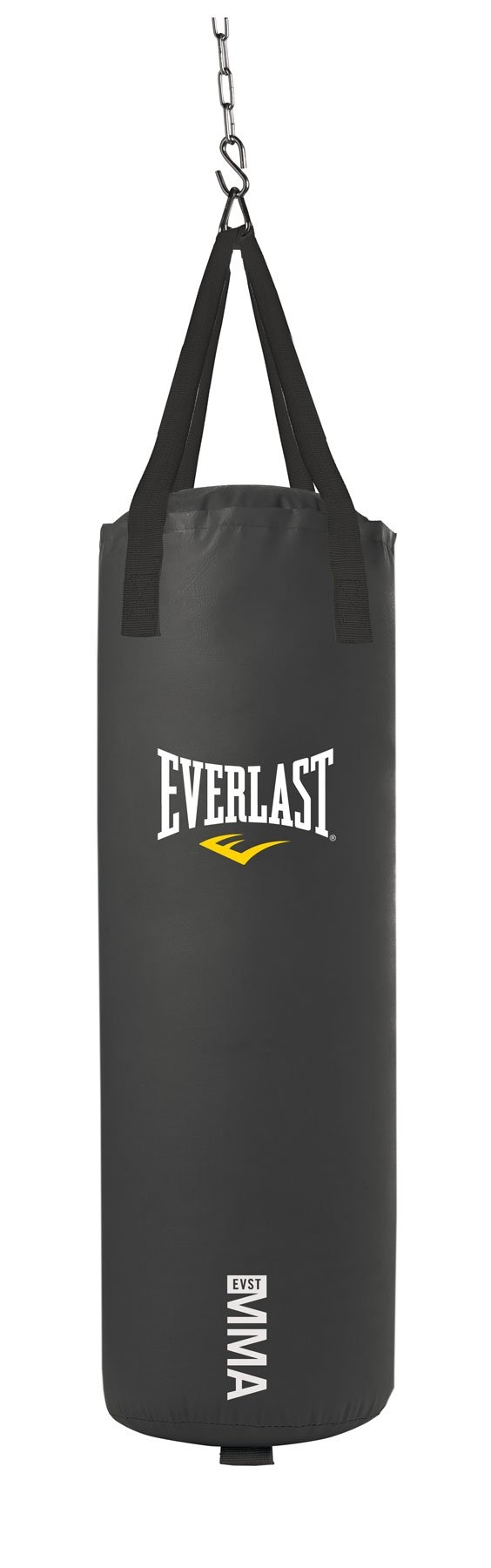 Everlast 70-Pound MMA Poly Canvas Heavy Bag (Black) by Everlast