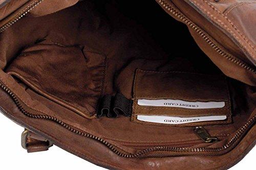 Handtasche Shopper Damentasche Handtasche Leder braun cognac stonebear original Laptoptasche Umhängetasche Notebooktasche Businesstasche Aktentasche Leder Büffel Vintage