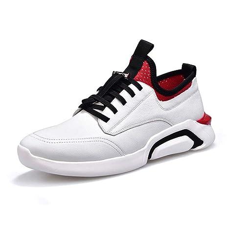 YAN Zapatos Casuales para Hombres Zapatillas Deportivas de Cuero Zapatillas Zapatillas de Correr para Gimnasio Zapatillas
