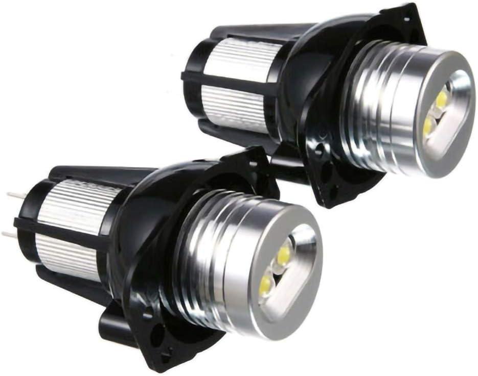 znwiem 2PCS 20W LED Headlights Angel Eye Halo Ring Lamp Bulbs for BMW E90 E91 05-08 Daytime Running Light