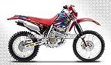 Kungfu Graphics Custom Decal Kit for Honda 1998 1999 2000 2001 2002 2003 2004 XR 250 XR 400, Red White Blue