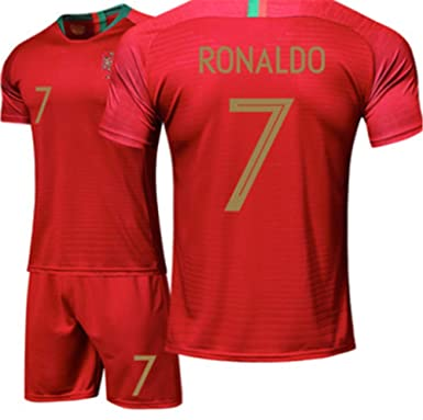 reputable site d7d08 4ccf8 LISIMKE 2018-2019 Portugal C Ronaldo #7 Juventus Kids Or Youth Soccer  Jersey & Shorts & Socks