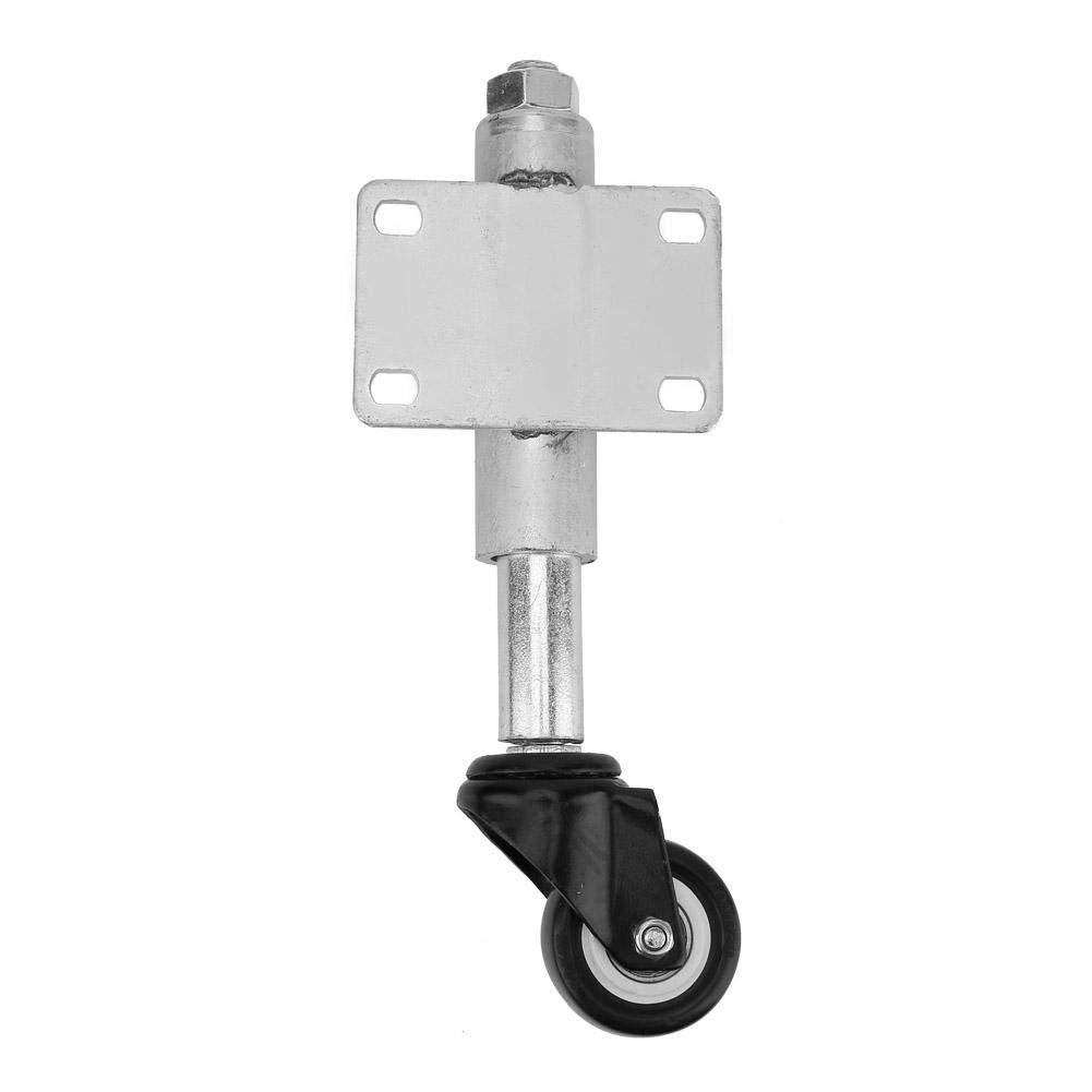2'' PU Gate Wheel Heavy Duty Flat Free Spring Loaded Swivel Caster with Brake 110lbs Load Capacity