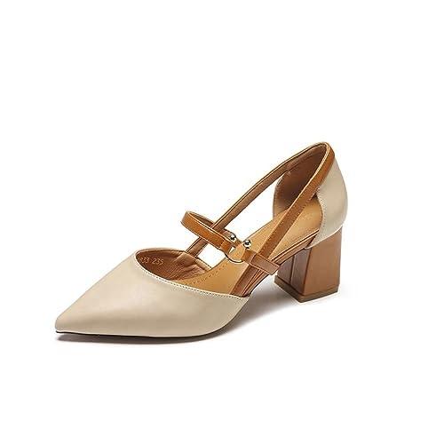 Tacones Altos en Verano Baotou Tiene un par de Sandalias con un par de  Zapatos con un par de Zapatos de Roma Zapatos de Punta y Tacones Altos.   Amazon.es  ... 20629dc617e9