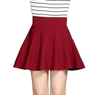 DISSA BA901 - Falda Plisada para Mujer Rojo Intenso 42: Amazon.es ...