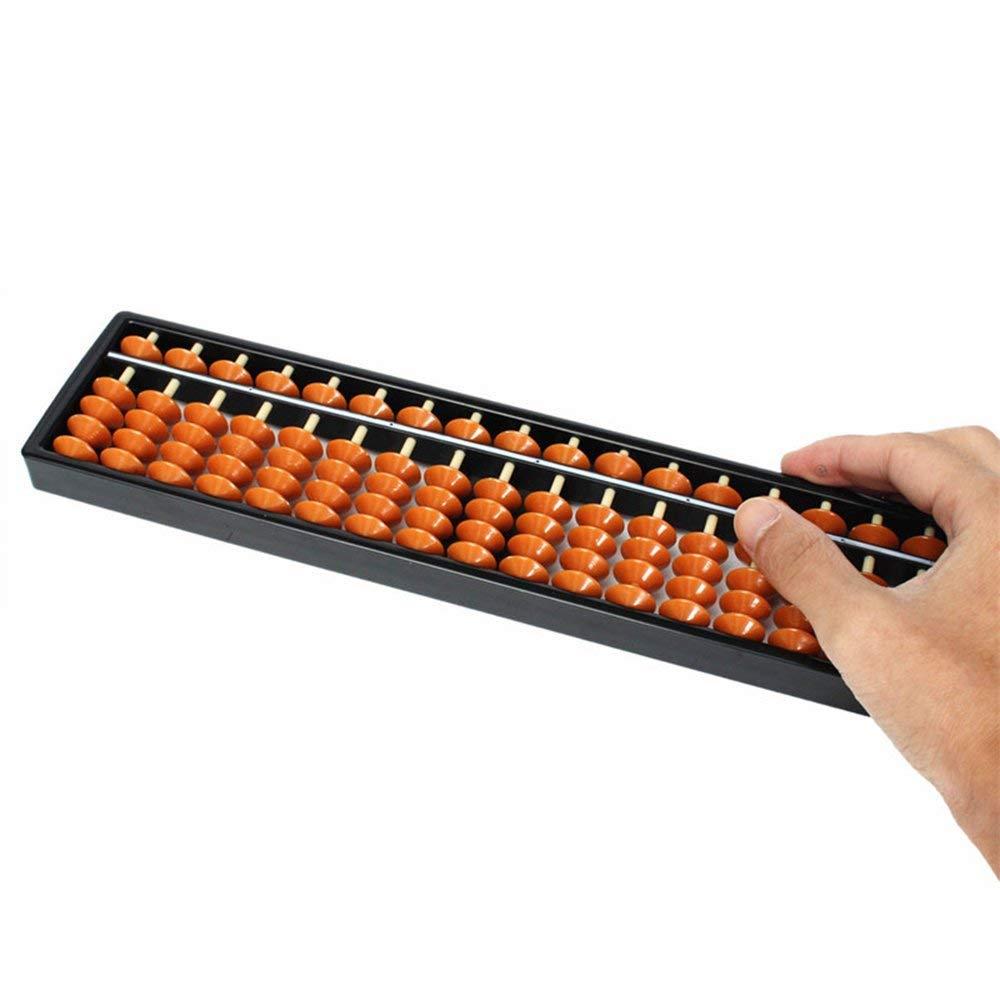 XSM Abacus en plastique outil de calcul de labaque arithm/étique /à 15 chiffres pour enfants apprenant 1 Pcs