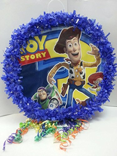 Toy Story Pinata With Pull String - Party Game & Candy Holder - Hand Made To Order (Pinata Pull Toys)