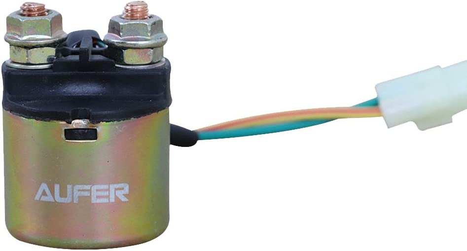 AUFER Starter Solenoid Relay for Honda ATV TRX350 TRX400 TRX450 TRX500 FourTrax Rancher Foreman Rubicon Pioneer 700 35850-HM7-000 35850-HN0-671 35850-HN7-003 35850-HP1-601 35850-HN2-A01