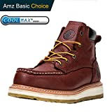 ROCKROOSTER Composite Toe Work Boots for Men, Steel Toe Waterproof Safety Working Shoes (AP360-soft, 6-DKB)