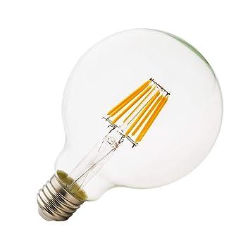 E27 Bombillas Edison 8W Bombilla Vintage G95 LED Retro Cálida luz blanca 2200k 800LM Sustitución del