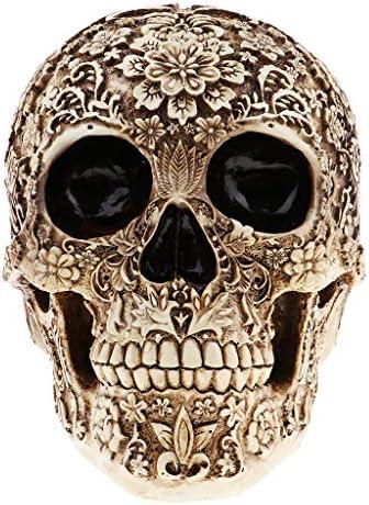 ハロウィン 樹脂 頭蓋骨の彫像 装飾品 彫刻 工芸 ギフト 鑑賞 手芸 おもちゃ