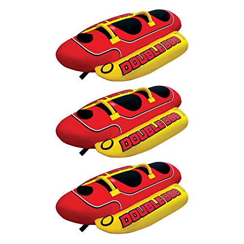 - AIRHEAD HD-2 Hot Dog Double Towable Inflatable Lake Tube 1-2 Person (3 Pack)