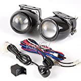 KiWAV Sirius NS-2417 3'' auxiliary projector lights fog light fish eye round Halogen Bulb H3 2pcs + wiring kit wk-003